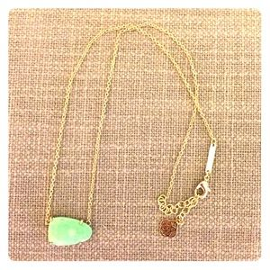 Kendra Scott Isla Necklace in Mint and Gold